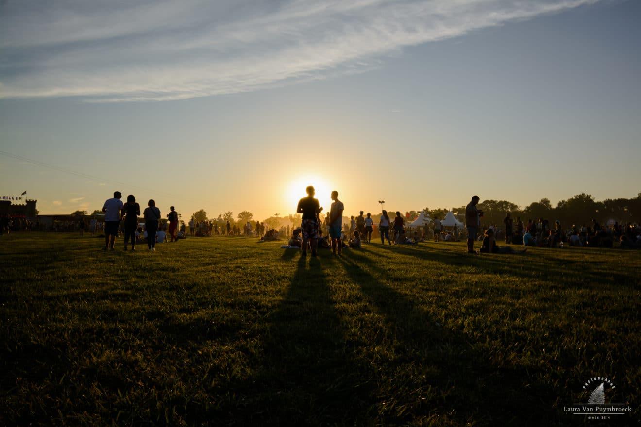 Coucher de soleil sur la plaine de la Filhole